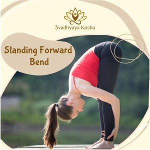 standing forward pose for back pain