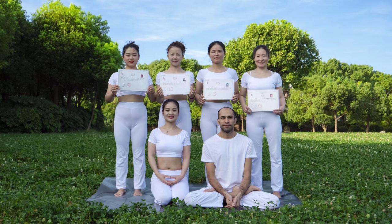 Yoga Students With Us